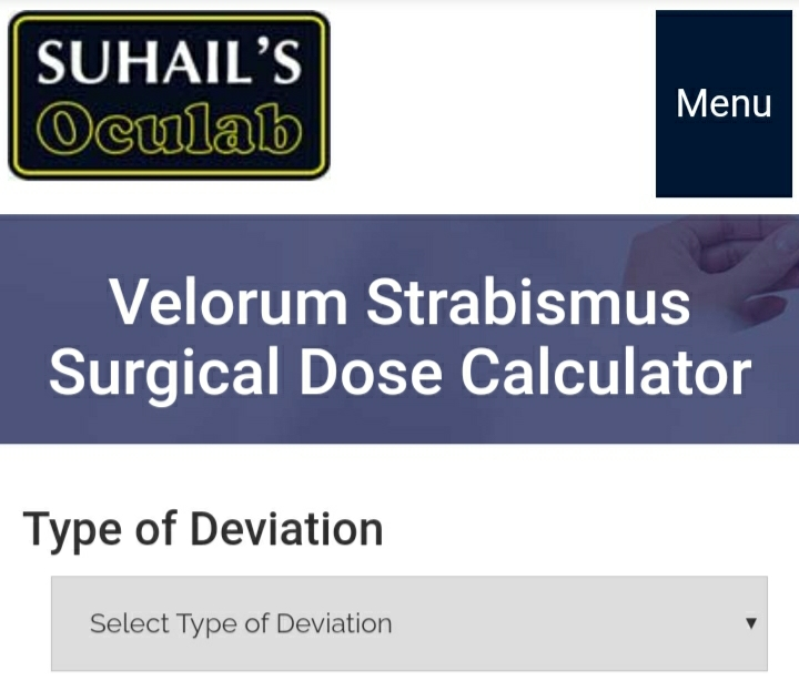 Velorum Strabismus Surgeical Dose Calculator